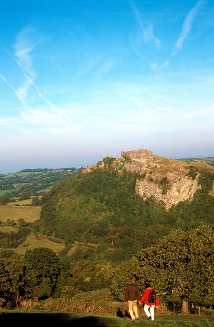 view of carreg cennan castle, breacon beacons